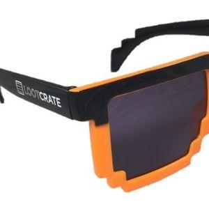 Orange 8Bit Lootcrate sunglasses